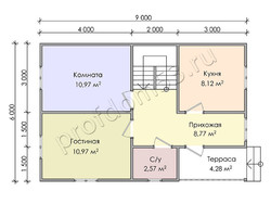 Дом из бруса проект Юстус - вид 3