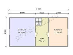 Дом из бруса проект Юстус - вид 4