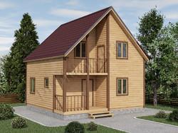 Дом из бруса проект Захар - вид 1