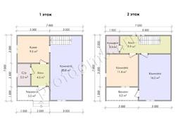 Дом из бруса проект Захар - вид 2