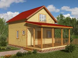 Дом из бруса проект Закир - вид 1
