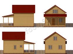 Дом из бруса проект Закир - вид 2