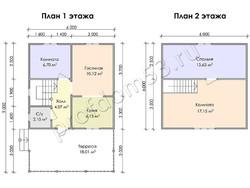 Дом из бруса проект Закир - вид 3