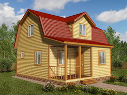 Дом из бруса проект Ждан - вид 1