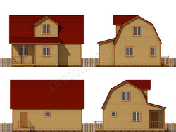 Дом из бруса проект Ждан - вид 2