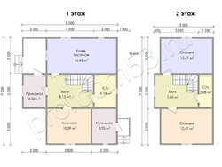 Дом из бруса проект Ждан - вид 3