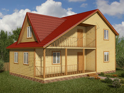 Дом из бруса проект Жерар - вид 1