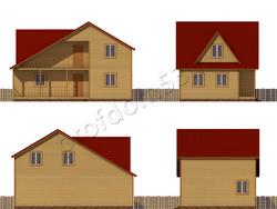 Дом из бруса проект Жерар - вид 2