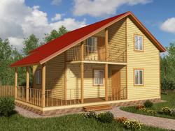 Дом из бруса проект Жигер - вид 1
