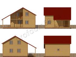 Дом из бруса проект Жигер - вид 2