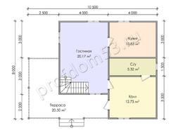 Дом из бруса проект Жигер - вид 3