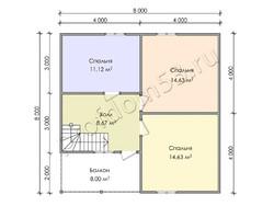 Дом из бруса проект Жигер - вид 4