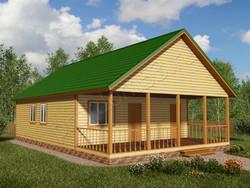 Дом из бруса проект Зинон - вид 1