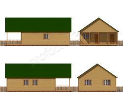 Дом из бруса проект Зинон - вид 2