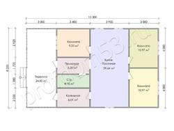 Дом из бруса проект Зинон - вид 3