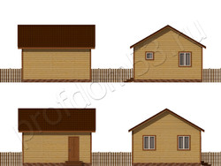 Дом из бруса проект Зорий - вид 2