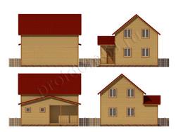 Дом из бруса проект Зуфар - вид 2