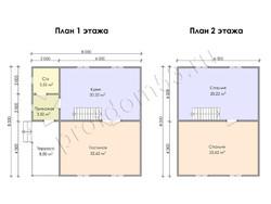 Дом из бруса проект Зуфар - вид 3