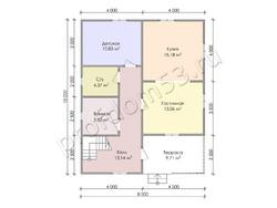 Дом из сухого бруса проект Зураб - вид 3