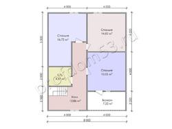 Дом из сухого бруса проект Зураб - вид 4